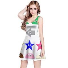 Cute Symbol Reversible Sleeveless Dress