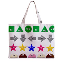 Cute Symbol Zipper Mini Tote Bag