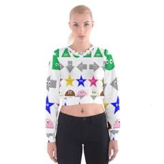 Cute Symbol Cropped Sweatshirt