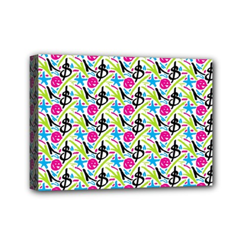 Cool Graffiti Patterns  Mini Canvas 7  X 5