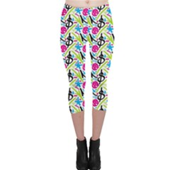 Cool Graffiti Patterns  Capri Leggings
