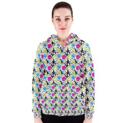 Cool Graffiti Patterns  Women s Zipper Hoodie