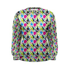 Cool Graffiti Patterns  Women s Sweatshirt