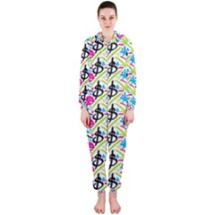 Cool Graffiti Patterns  Hooded Jumpsuit (ladies)