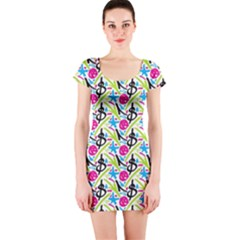 Cool Graffiti Patterns  Short Sleeve Bodycon Dress
