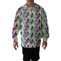 Cool Graffiti Patterns  Hooded Wind Breaker (Kids)