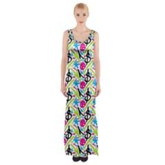 Cool Graffiti Patterns  Maxi Thigh Split Dress