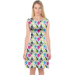 Cool Graffiti Patterns  Capsleeve Midi Dress