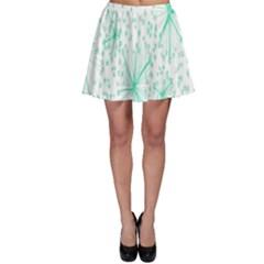 Pattern Floralgreen Skater Skirt