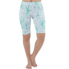 Pattern Floralgreen Cropped Leggings