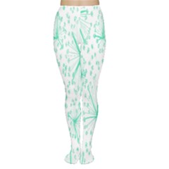 Pattern Floralgreen Women s Tights