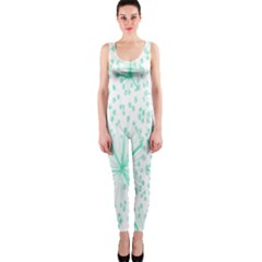 Pattern Floralgreen Onepiece Catsuit