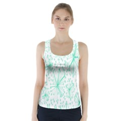 Pattern Floralgreen Racer Back Sports Top