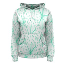 Pattern Floralgreen Women s Pullover Hoodie