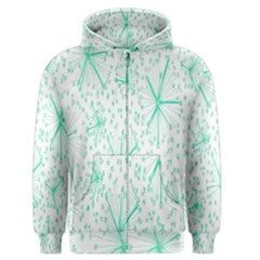 Pattern Floralgreen Men s Zipper Hoodie
