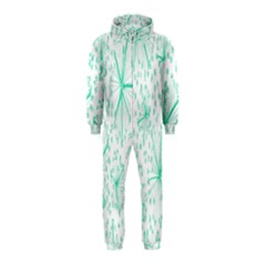 Pattern Floralgreen Hooded Jumpsuit (kids)