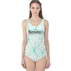 Pattern Floralgreen One Piece Swimsuit