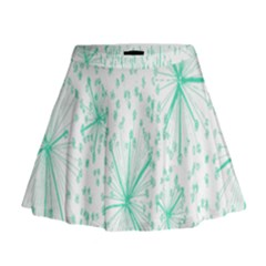 Pattern Floralgreen Mini Flare Skirt