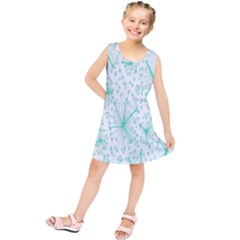 Pattern Floralgreen Kids  Tunic Dress