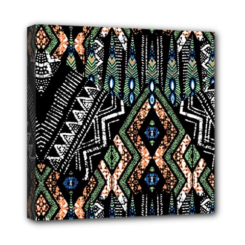 Ethnic Art Pattern Mini Canvas 8  X 8