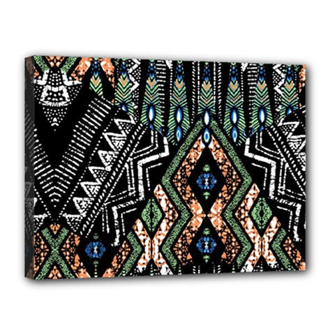 Ethnic Art Pattern Canvas 16  X 12
