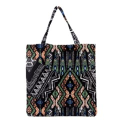Ethnic Art Pattern Grocery Tote Bag