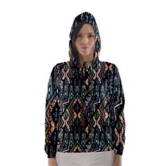 Ethnic Art Pattern Hooded Wind Breaker (Women)