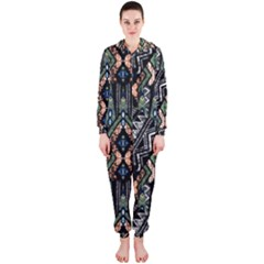 Ethnic Art Pattern Hooded Jumpsuit (Ladies)