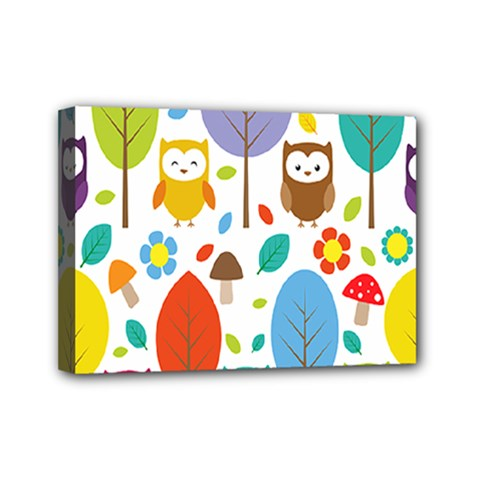 Cute Owl Mini Canvas 7  x 5