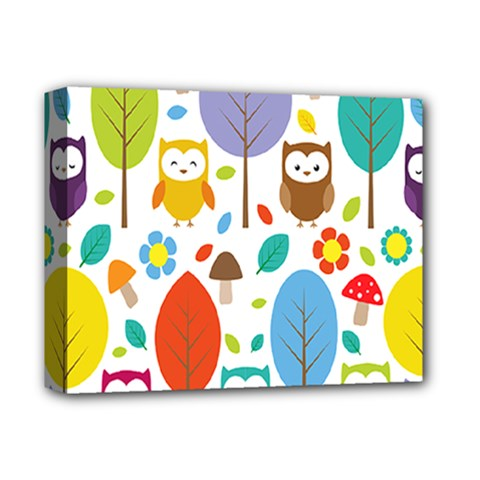 Cute Owl Deluxe Canvas 14  X 11