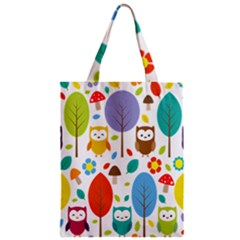 Cute Owl Zipper Classic Tote Bag