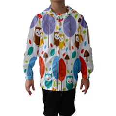 Cute Owl Hooded Wind Breaker (kids)
