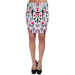 Abstract Peacock Bodycon Skirt