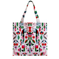 Abstract Peacock Zipper Grocery Tote Bag