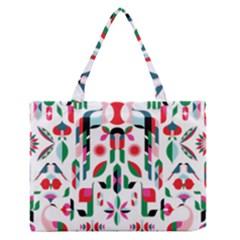 Abstract Peacock Medium Zipper Tote Bag