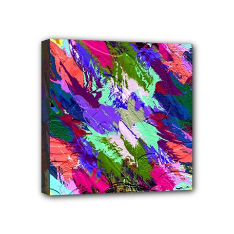 Tropical Jungle Print And Color Trends Mini Canvas 4  X 4