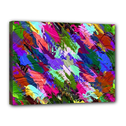 Tropical Jungle Print And Color Trends Canvas 16  X 12
