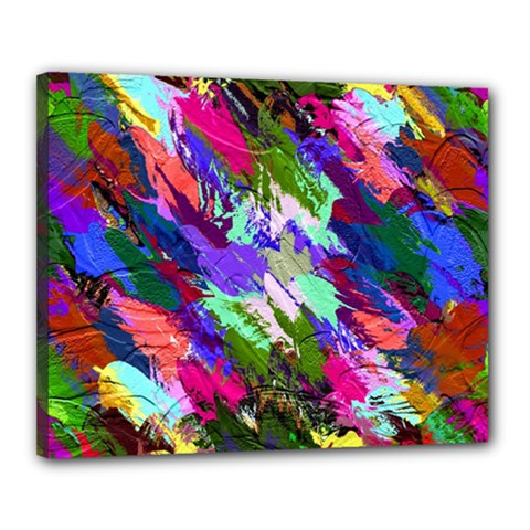 Tropical Jungle Print And Color Trends Canvas 20  x 16