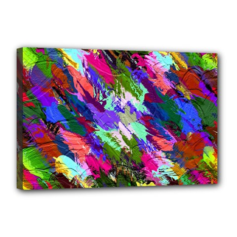 Tropical Jungle Print And Color Trends Canvas 18  x 12