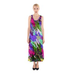 Tropical Jungle Print And Color Trends Sleeveless Maxi Dress