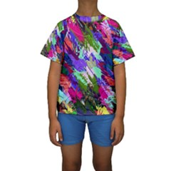 Tropical Jungle Print And Color Trends Kids  Short Sleeve Swimwear