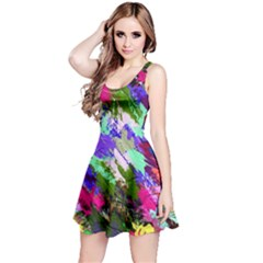 Tropical Jungle Print And Color Trends Reversible Sleeveless Dress