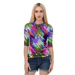 Tropical Jungle Print And Color Trends Quarter Sleeve Tee