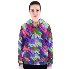 Tropical Jungle Print And Color Trends Women s Zipper Hoodie