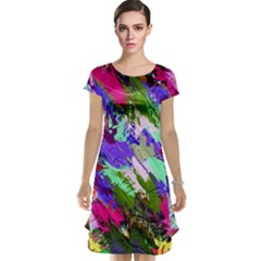 Tropical Jungle Print And Color Trends Cap Sleeve Nightdress