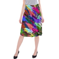 Tropical Jungle Print And Color Trends Midi Beach Skirt