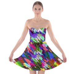 Tropical Jungle Print And Color Trends Strapless Bra Top Dress