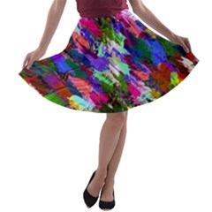 Tropical Jungle Print And Color Trends A Line Skater Skirt