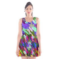 Tropical Jungle Print And Color Trends Scoop Neck Skater Dress