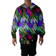 Tropical Jungle Print And Color Trends Hooded Wind Breaker (kids)